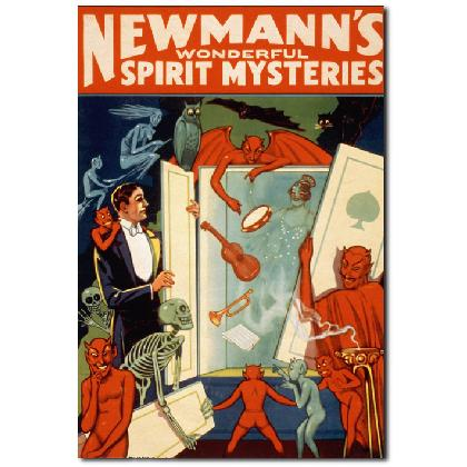NEWMANN'S SPIRIT MYSTERIES MAGIC POSTER T-SHIRT Image