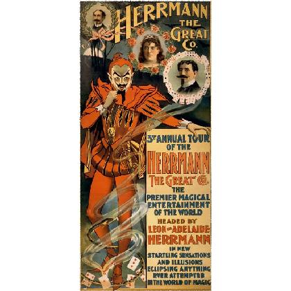 HERRMANN THE GREAT 3rd ANNUAL TOUR POSTER T-SHIRT Image