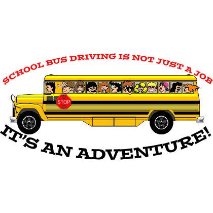 SCHOOL BUS DRIVING IS NOT JUST A JOB T-SHIRT Image