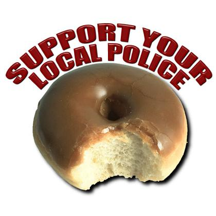 SUPPORT YOUR LOCAL POLICE T-SHIRT Image