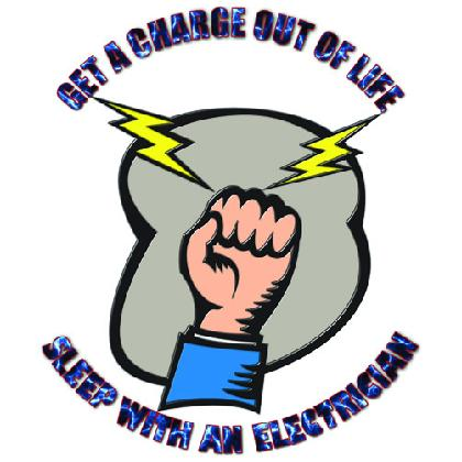 GET A CHARGE • SLEEP WITH A ELECTRICIAN T-SHIRT Image