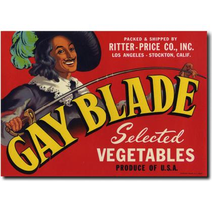 GAY BLADE CRATE LABEL T-SHIRT Image