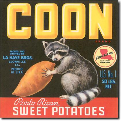 COON BRAND SWEET POTATOES CRATE LABEL T-SHIRT Image