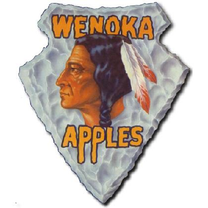 WENOKA APPLES CRATE LABEL T-SHIRT Image