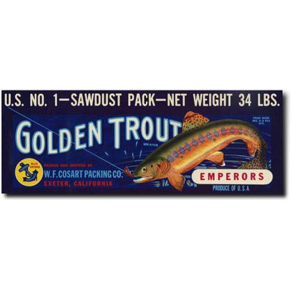GOLDEN TROUT CRATE LABEL T-SHIRT Image