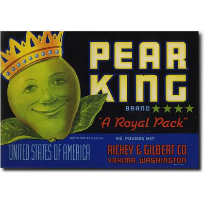 PEAR KING CRATE LABEL T-SHIRT Image
