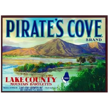 PIRATES COVE CRATE LABEL T-SHIRT Image