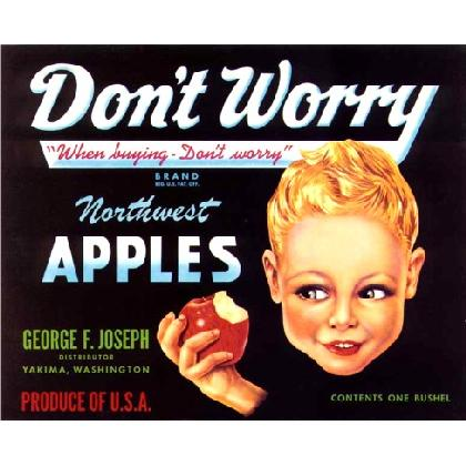 DON'T WORRY APPLES T-SHIRT Image