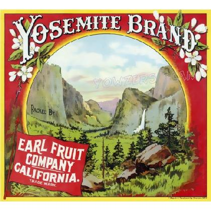 YOSEMITE FRUIT CRATE LABEL T-SHIRT Image