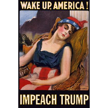 WAKE UP AMERICA - IMPEACH TRUMP T-SHIRT Image