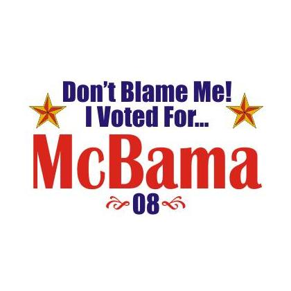 I VOTED FOR McBAMA T-SHIRT Image