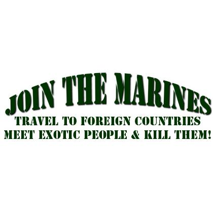 JOIN THE MARINES T-SHIRT Image