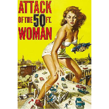ATTACK OF THE 50 FOOT WOMAN T-SHIRT Image