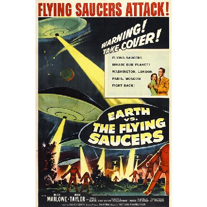EARTH VS THE FLYING SAUCERS T-SHIRT Image